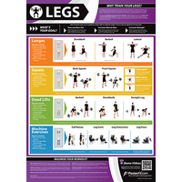 Gym and Fitness Chart -Legs (L)