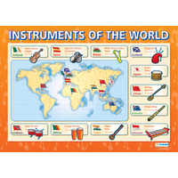 Music Schools Poster - Instruments of the World