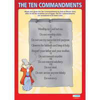Religion School Poster-  The Ten Commandments
