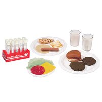 How Much Fat? Food Replica Package and Test Tube Display