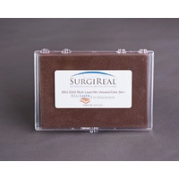 5-layer RealLayer Simulated Tissue Pad w/o Vessels (10.0 x 14.5 cm) - Dark Skin