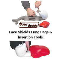 Basic Buddy Face Shields - Lung Bags - Insertion Tools