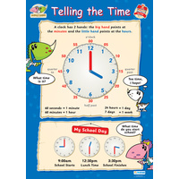 Early Learning School Poster-  Telling the Time