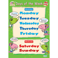 Early Learning School Poster- Days of the Week