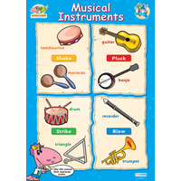 Early Learning School Poster- Musical Instruments