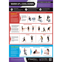 Gym and Fitness Chart - Warm Up And Cool Down (L)