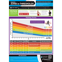 Gym and Fitness Chart - Training Zones And Threshold (L)