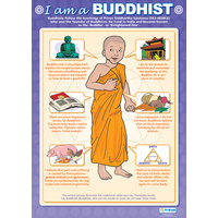 Religion School Poster - I Am a Buddhist