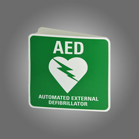 Wall Mount AED Angled Sign