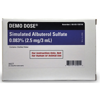 Demo Dose  Simulated Inhalation Medication - Albuterol Sulfate 0.083%, 2.5 mg/3 ml