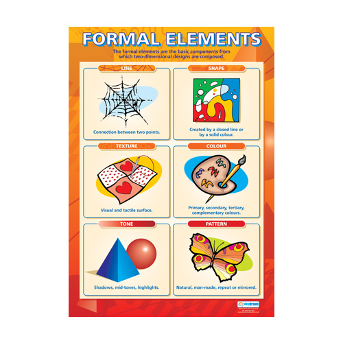 Formal Elements Of Art And Design : Art and design school poster formal elements